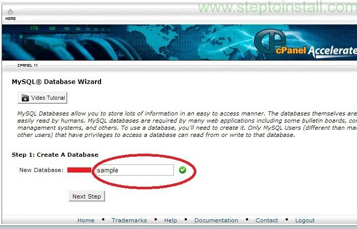 How to Create new Database - Database user in cPanel - Enter Database Name - steptoinstall