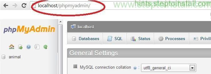 How to Create Database in localhost Wamp - Go to PHP Myadmin - steptoinstall