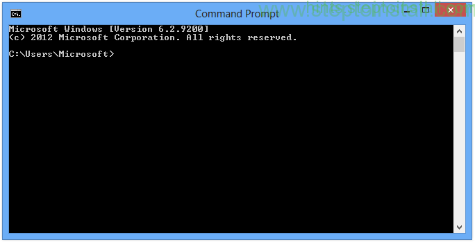 Open Command Prompt (CMD) or MS-DOS prompt in windows 8,7,xp