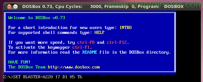 Final Step and Test How to Install DosBox on Ubuntu- steptoinstall.com