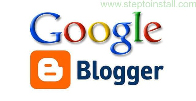 Start a Google Blog - follow this steps 1 - steptoinstall.com